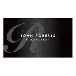 Metal cepillado moderno elegante del monograma pro plantillas de tarjeta de negocio