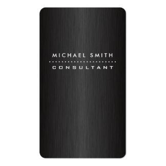 Metal cepillado negro moderno elegante profesional plantillas de tarjetas personales