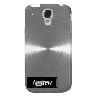 Metal cepillado plata iPhone3G Funda Samsung S4