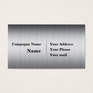 Metal cepillado tarjeta de negocios