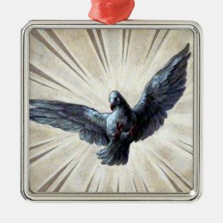 metal de la paloma adorno navideño cuadrado de metal