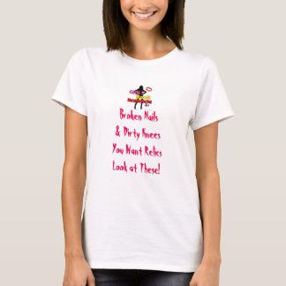Metal de la roca de los chicas que detecta el lema camiseta