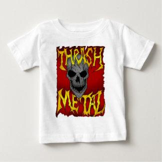 Metal del movimiento de piernas camiseta de bebé