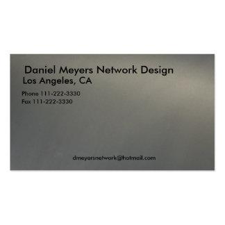 metal, diseño de red de Daniel Meyers, Los Angele… Tarjetas De Visita