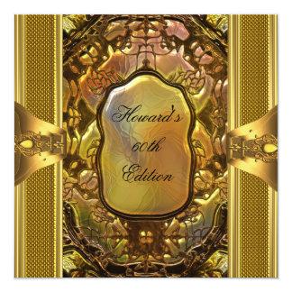 Metal hombre para hombre del cumpleaños del libro invitación 13,3 cm x 13,3cm