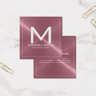 Metal inoxidable de cobre moderno elegante del tarjeta de visita cuadrada