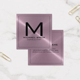Metal inoxidable de la lavanda moderna elegante tarjeta de visita cuadrada