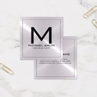 Metal inoxidable de plata moderno elegante del tarjeta de visita cuadrada