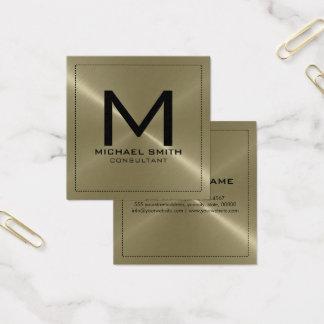 Metal inoxidable del moreno moderno elegante del tarjeta de visita cuadrada