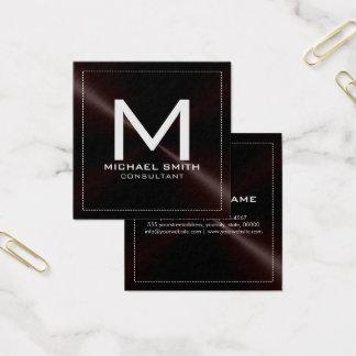 Metal inoxidable oscuro moderno elegante del tarjeta de visita cuadrada