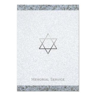 Metal la estrella de David/de la piedra - Invitación