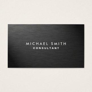 Metal llano negro moderno elegante profesional tarjeta de negocios