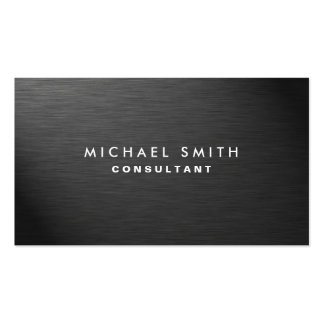 Metal llano negro moderno elegante profesional tarjetas de visita
