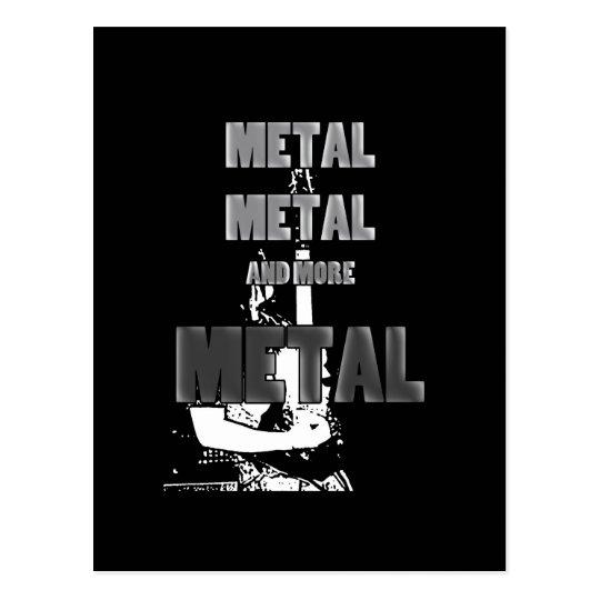Metal, metal y más metal postal