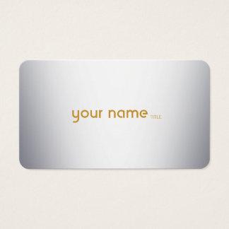 Metal moderno minimalista tarjeta de negocios