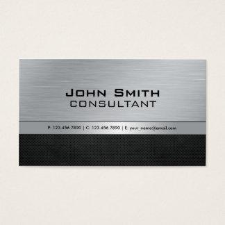 Metal negro de plata moderno elegante profesional tarjeta de negocios