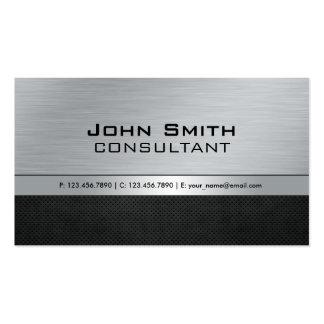 Metal negro de plata moderno elegante profesional tarjetas de visita