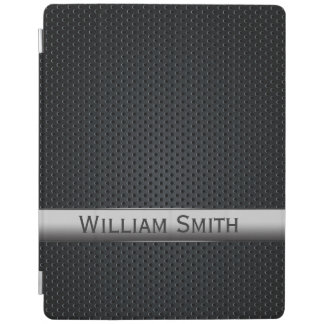 Metal oscuro rayado de acero cover de iPad