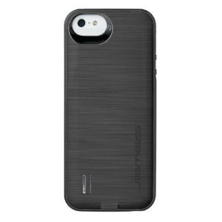 metal perforado elegante oscuro personalizado por funda con batería para iPhone SE/5/5s