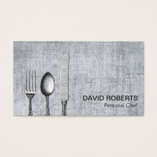 Metal personal del abastecimiento de los cubiertos tarjeta de negocios