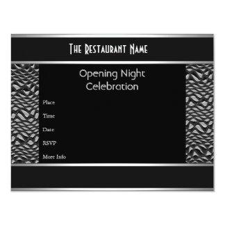 Metal plateado del negro de la noche de la invitación 10,8 x 13,9 cm