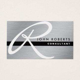 Metal plateado elegante profesional del oro del tarjeta de negocios