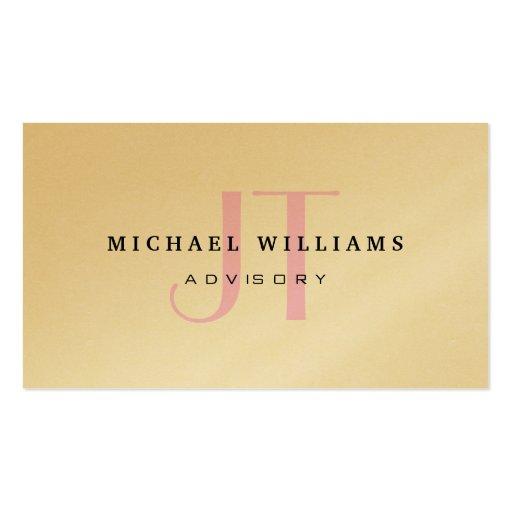 Metal plateado elegante profesional del oro dorado tarjetas de visita