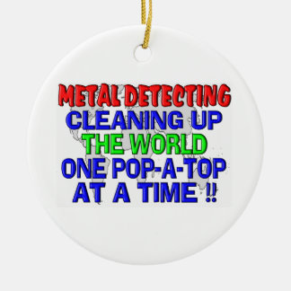 Metal que detecta limpiando el mundo (Estallido-UN Adornos De Navidad