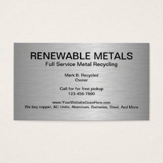 Metal que recicla tarjetas de visita