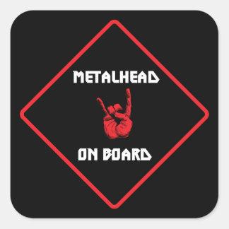 Metalhead a bordo el pegatina
