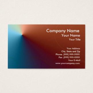 Metálico azul y rojo tarjeta de visita
