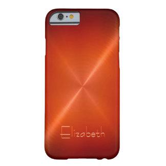 Metálico de acero radial brillante fresco funda de iPhone 6 barely there