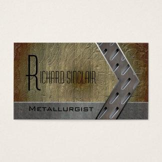 Metalurgia Style3 Tarjeta De Negocios