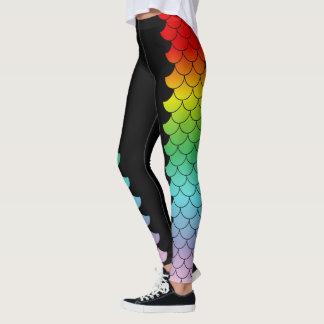 Metamorfosis de la sirena del arco iris leggings