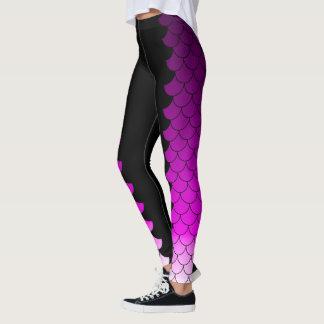 Metamorfosis púrpura de la sirena leggings