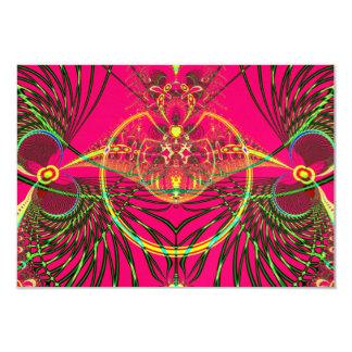 Metamorfosis que emerge del fractal del capullo invitación 8,9 x 12,7 cm