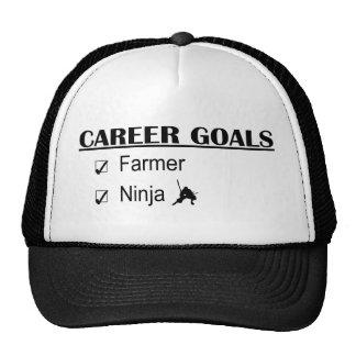 Metas de la carrera de Ninja - granjero Gorro De Camionero