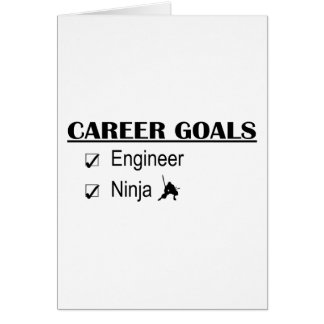 Metas de la carrera de Ninja - ingeniero Tarjeta De Felicitación