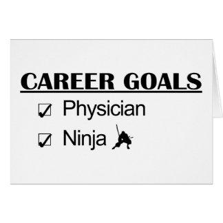 Metas de la carrera de Ninja - médico Tarjetón