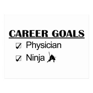 Metas de la carrera de Ninja - médico Postal