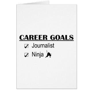 Metas de la carrera de Ninja - periodista Tarjeta De Felicitación