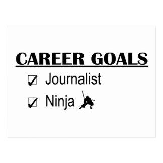 Metas de la carrera de Ninja - periodista Tarjeta Postal