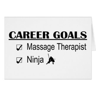 Metas de la carrera de Ninja - terapeuta del masaj Tarjeta De Felicitación