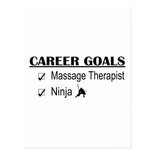 Metas de la carrera de Ninja - terapeuta del masaj Tarjetas Postales