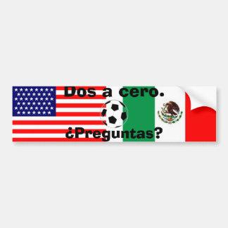 mexican_flag bandera de los E E U U bola DOS u Etiqueta De Parachoque