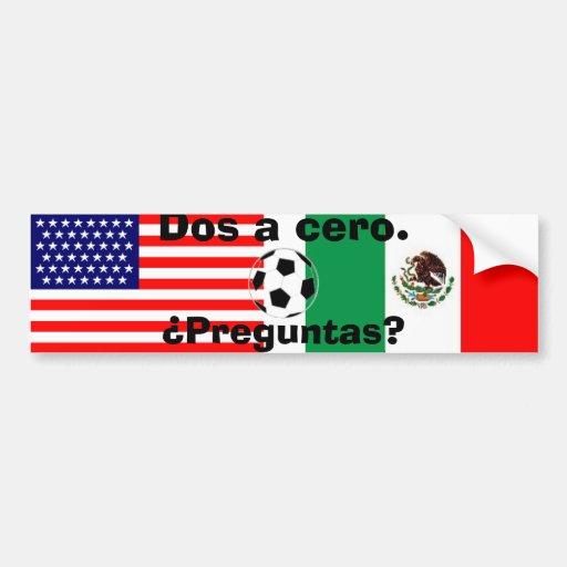 mexican_flag, bandera de los E.E.U.U., bola, DOS u Etiqueta De Parachoque