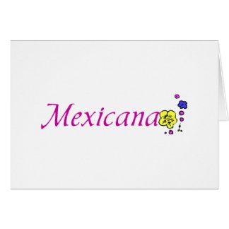 Mexicana Tarjeta De Felicitación