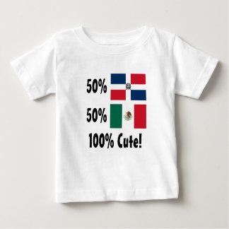 Mexicano del Dominican el 50% del 50% el 100% Camiseta De Bebé