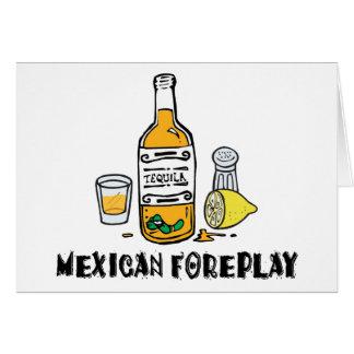 Mexicano divertido tarjeta