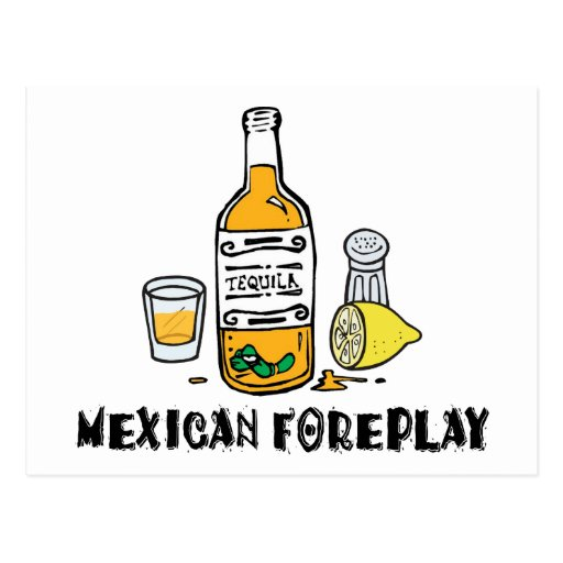 Mexicano divertido postal